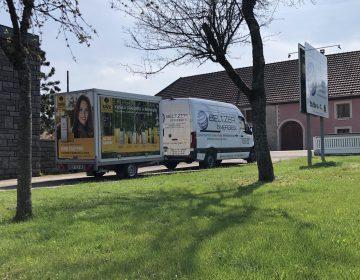Camionnette Beltzer Energies - Installation chaudière pellet